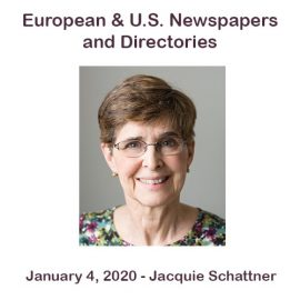 Jacquie Schattner – European and U.S. Newspapers and Directories