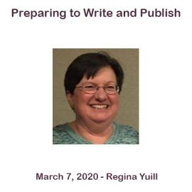 Regina Yuill – Preparing to Write and Publish