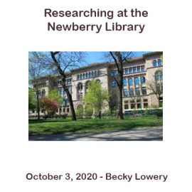 Becky Lowery – Researching at the Newberry Library