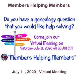 Members Helping Members on July 11, 2020