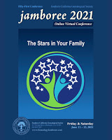 GENEALOGY JAMBOREE 2021 - FRIDAY & SATURDAY, JUNE 11 & 12